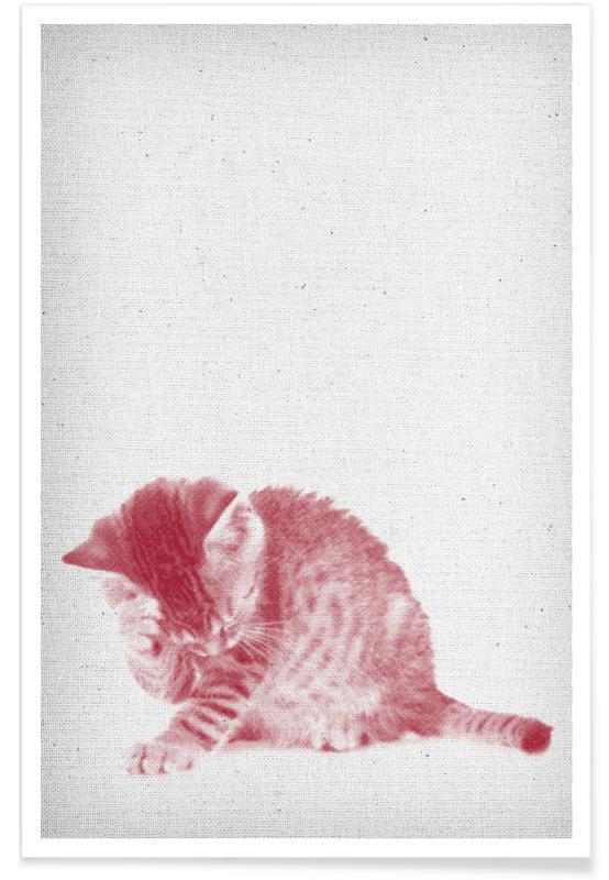 Katten, Kunst voor kinderen, Kätzchen 01 poster
