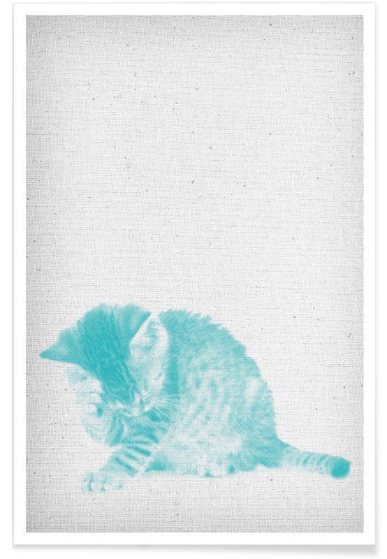 Chats, Art pour enfants, Kätzchen 02 affiche