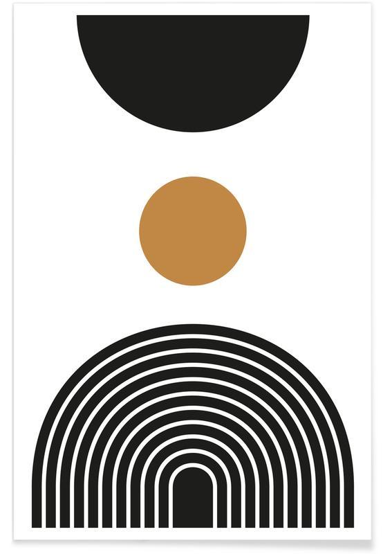 Schwarz & Weiß, Mid Century Study No 3 -Poster