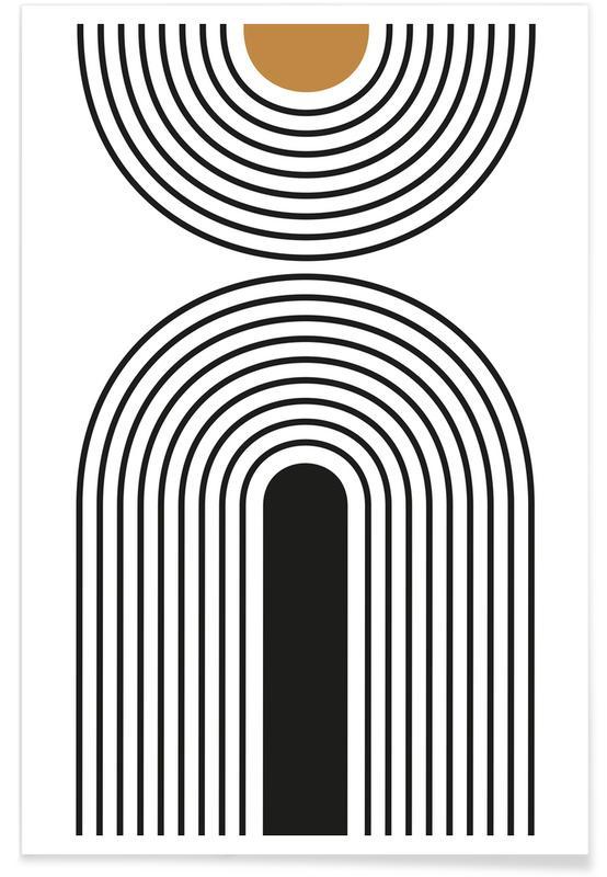 Zwart en wit, Mid Century Study No 27 poster