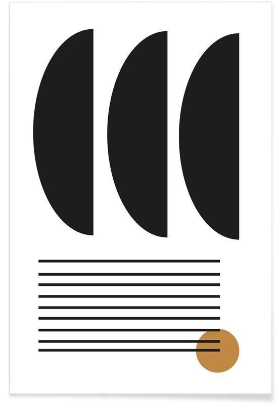 Noir & blanc, Mid Century Study No 13 affiche