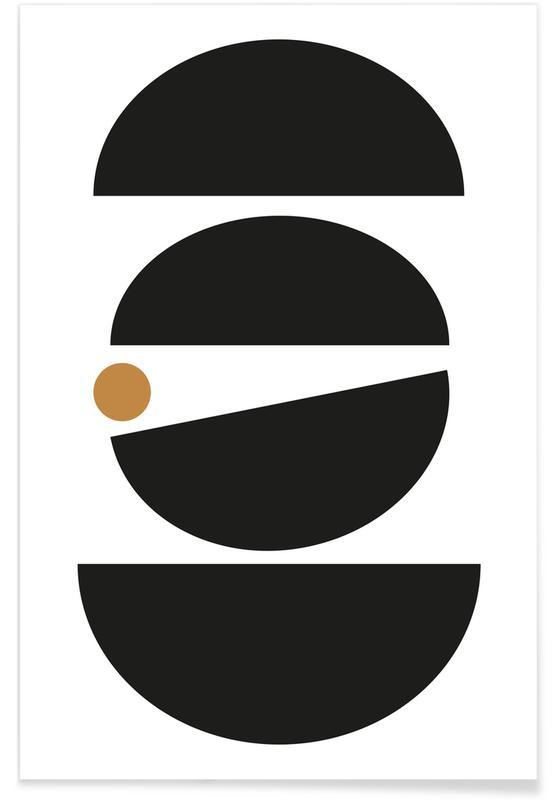 Black & White, Mid Century Study No 11 Poster