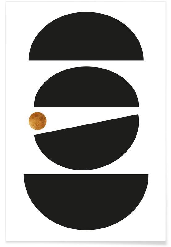 Noir & blanc, Mid Century Study No 12 affiche