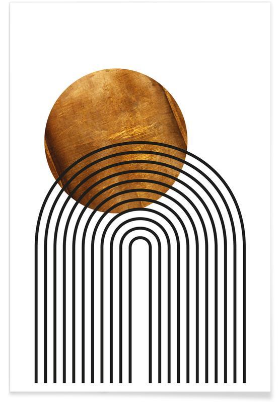 Schwarz & Weiß, Mid Century Study No 8 -Poster