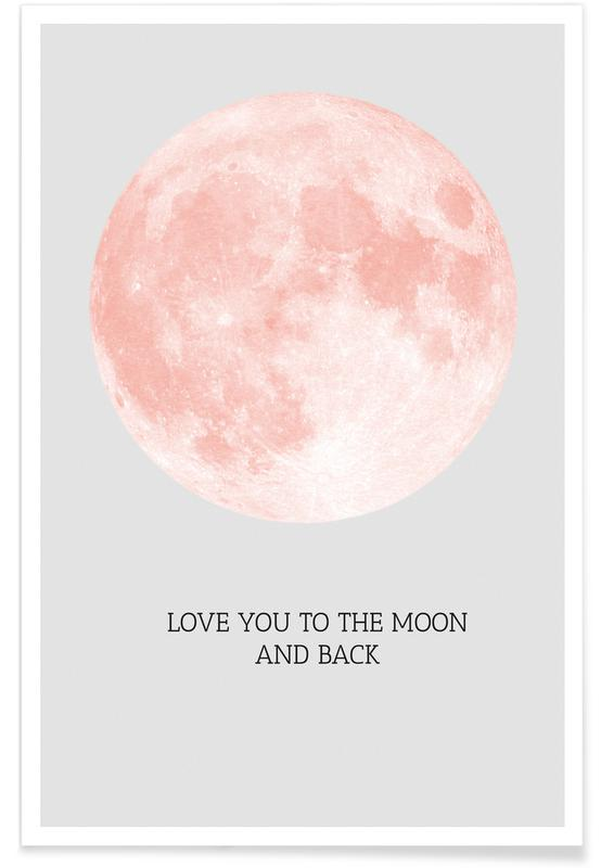 Love Quotes, Valentine's Day, Moon Poster