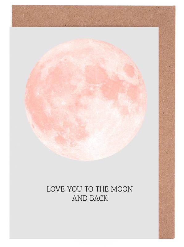 Moon cartes de vœux