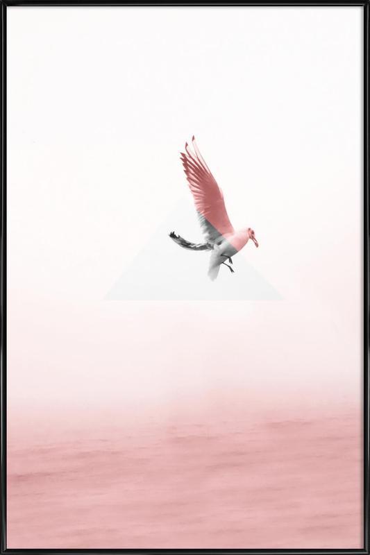 Möve ingelijste poster