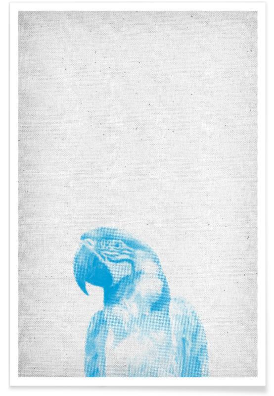 Art pour enfants, Perroquets, Papagei 01 affiche