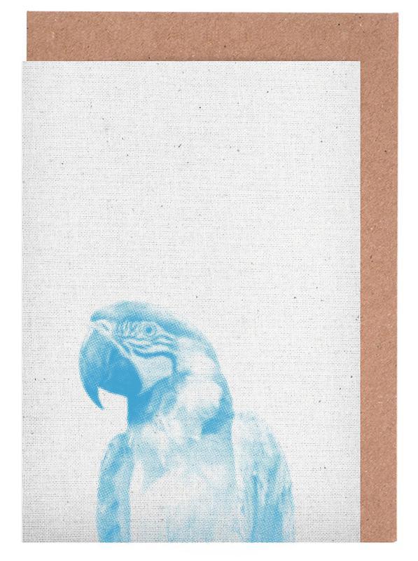 Art pour enfants, Perroquets, Papagei 01 cartes de vœux