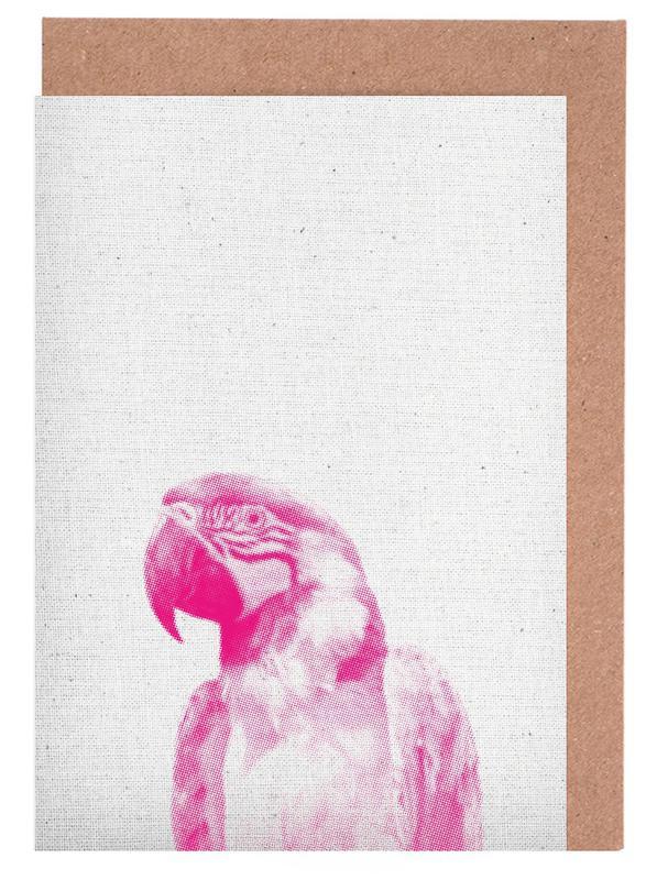 Art pour enfants, Perroquets, Papagei 02 cartes de vœux