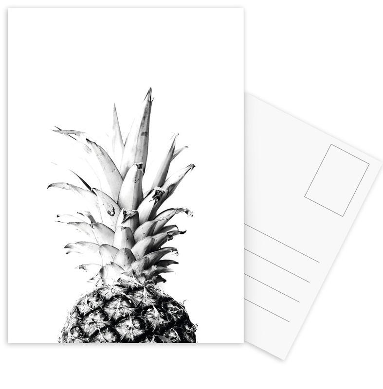 Black & White, Pineapples, Pineapple 01 Postcard Set