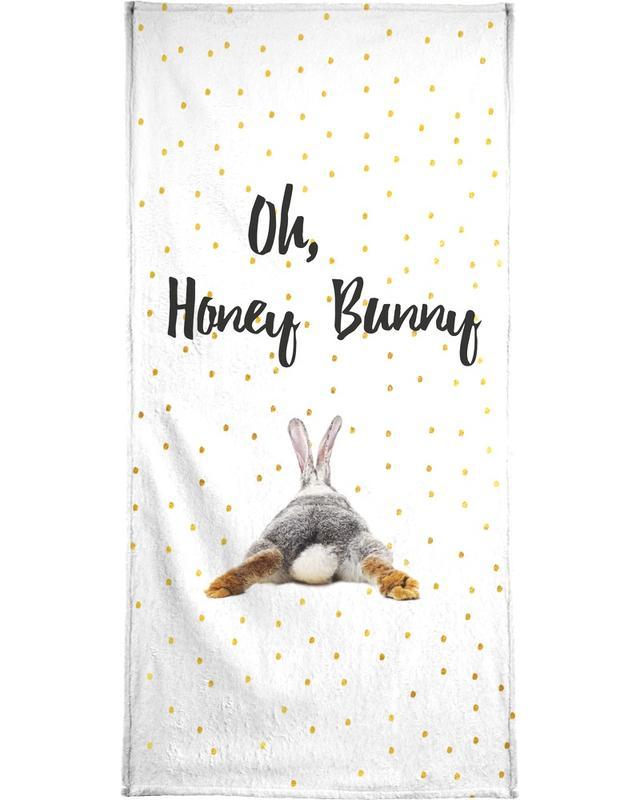 Saint-Valentin, Lapins, Anniversaires de mariage et amour, Citations et slogans, Honey Bunny serviette de bain