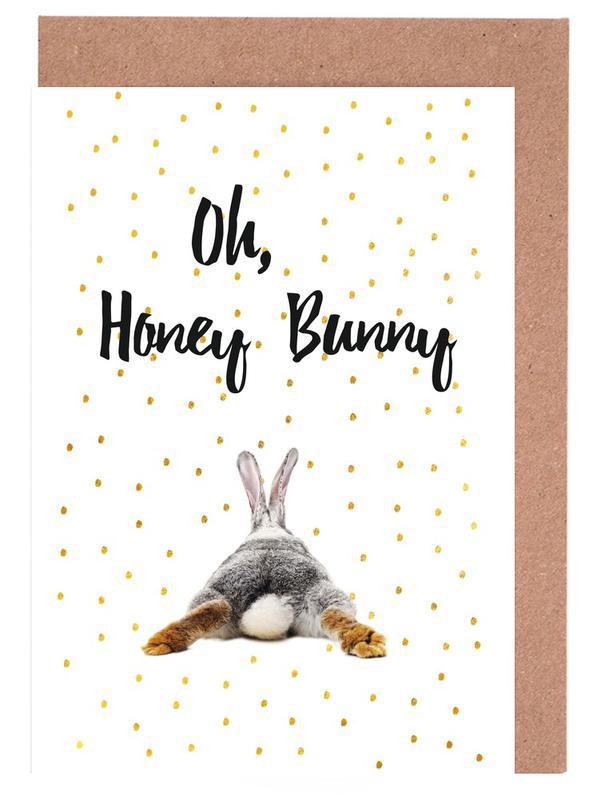 Honey Bunny Greeting Card Set