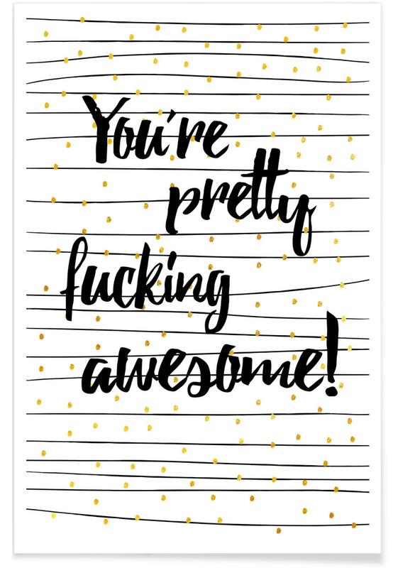 Felicitaties, Quotes en slogans, Awesome poster