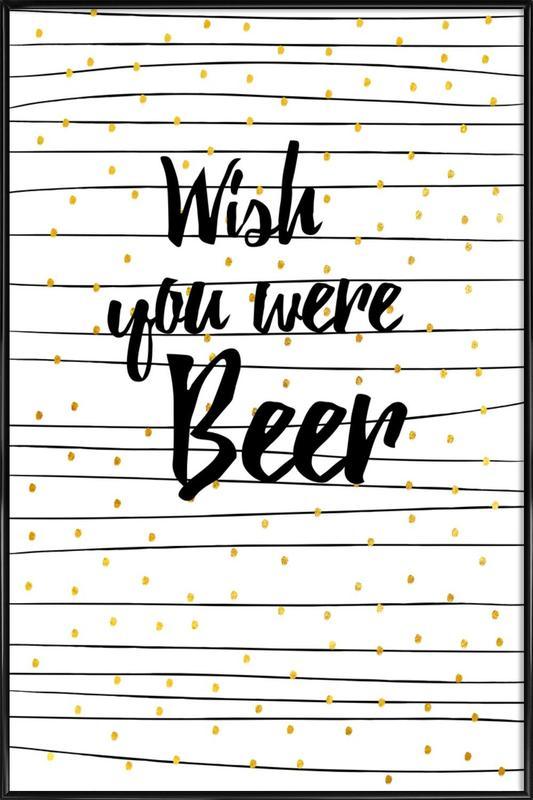 Beer -Bild mit Kunststoffrahmen