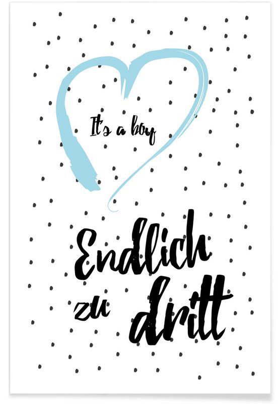 Geburt & Baby, Zitate & Slogans, Boy 3 -Poster