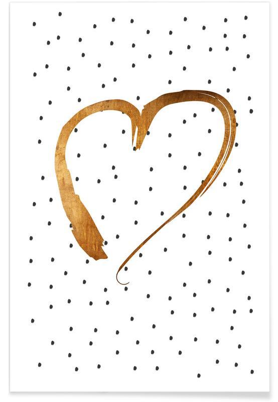 Liebe & Jahrestage, Herzen, Hochzeiten, Valentinstag, Heart 1 -Poster