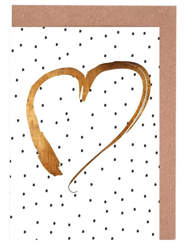 Heart 1 -Grußkarten-Set