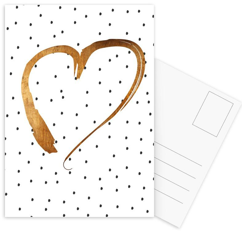 Weddings, Anniversaries & Love, Hearts, Valentine's Day, Heart 1 Postcard Set