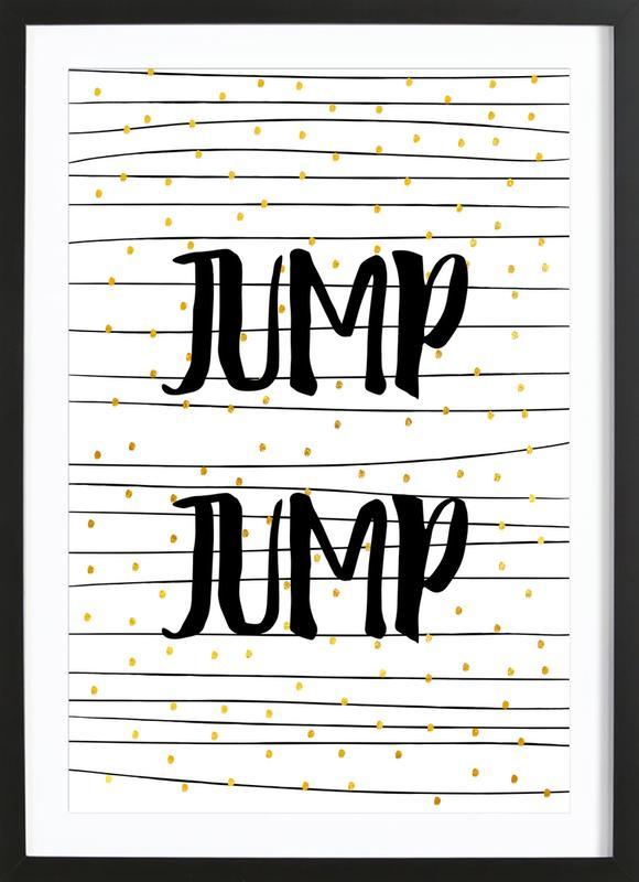 Jump ingelijste print