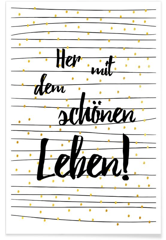 Zitate & Slogans, Motivation, Glückwünsche, Leben -Poster