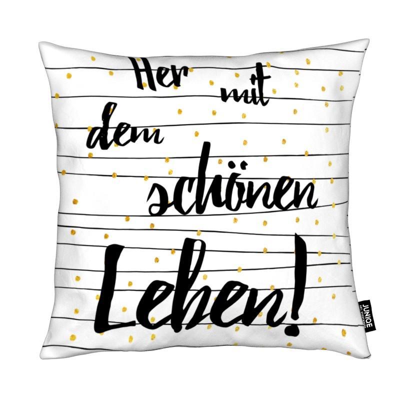 Motivation, Citations et slogans, Félicitations, Leben coussin
