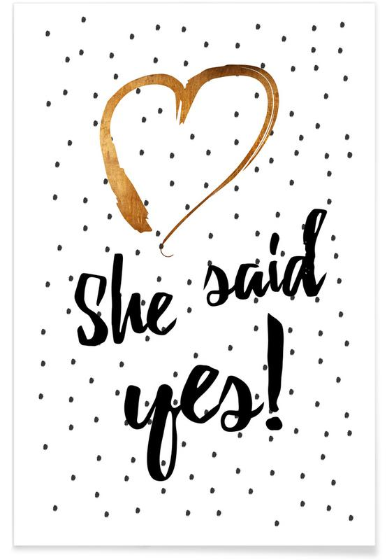 She Said Yes affiche