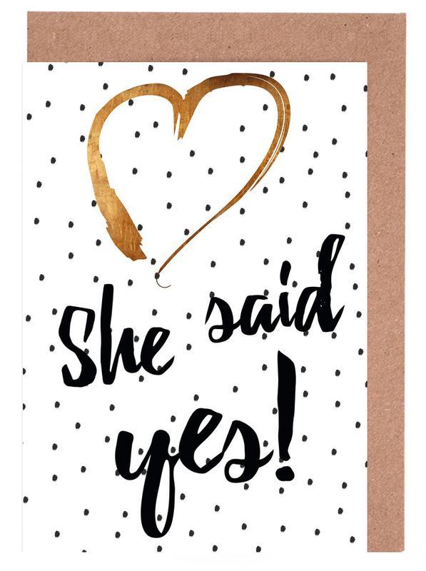 She Said Yes cartes de vœux