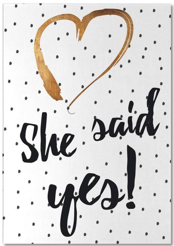 She Said Yes Notepad