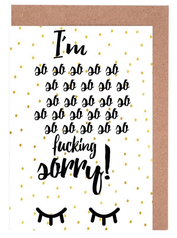 Excuses, Citations et slogans, Sorry cartes de vœux