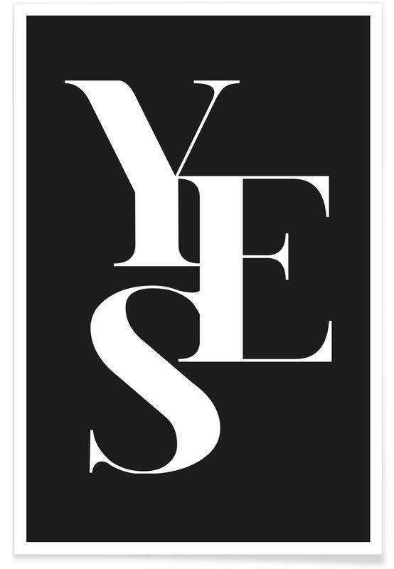 Zwart en wit, Trouwen en bruiloften, Quotes en slogans, Felicitaties, Yes 1 poster