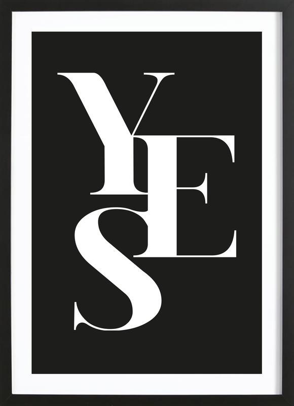 Yes 1 ingelijste print