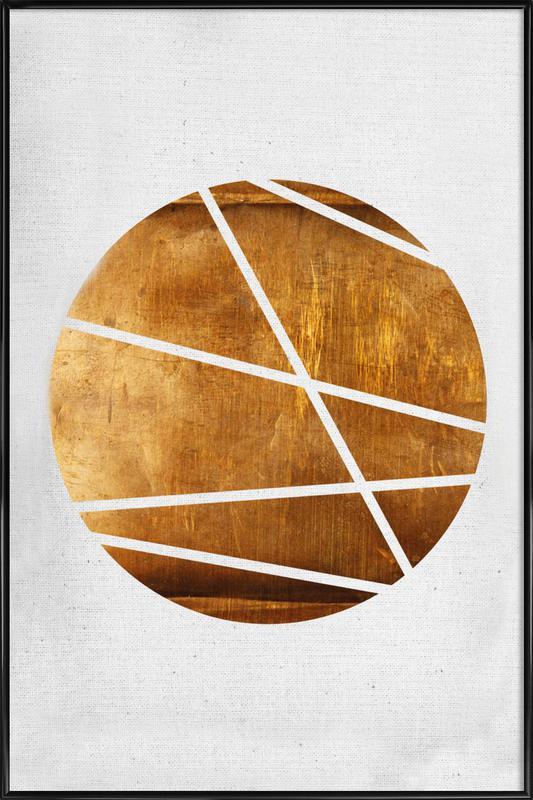 Circle ingelijste poster
