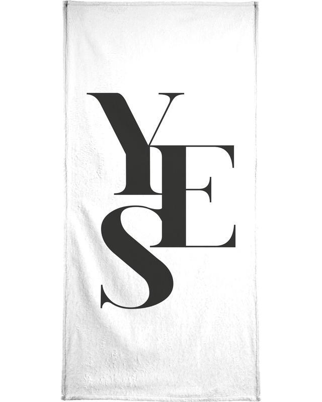 Schwarz & Weiß, Hochzeiten, Glückwünsche, Zitate & Slogans, Yes 2 -Handtuch