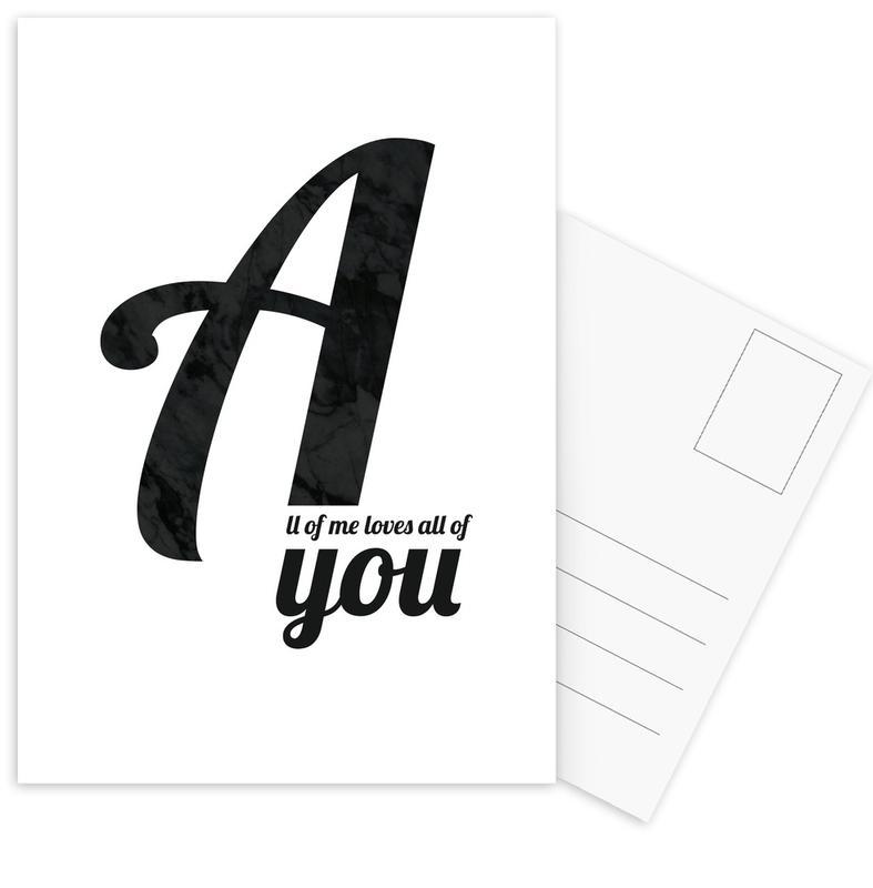 All Of Me -Postkartenset