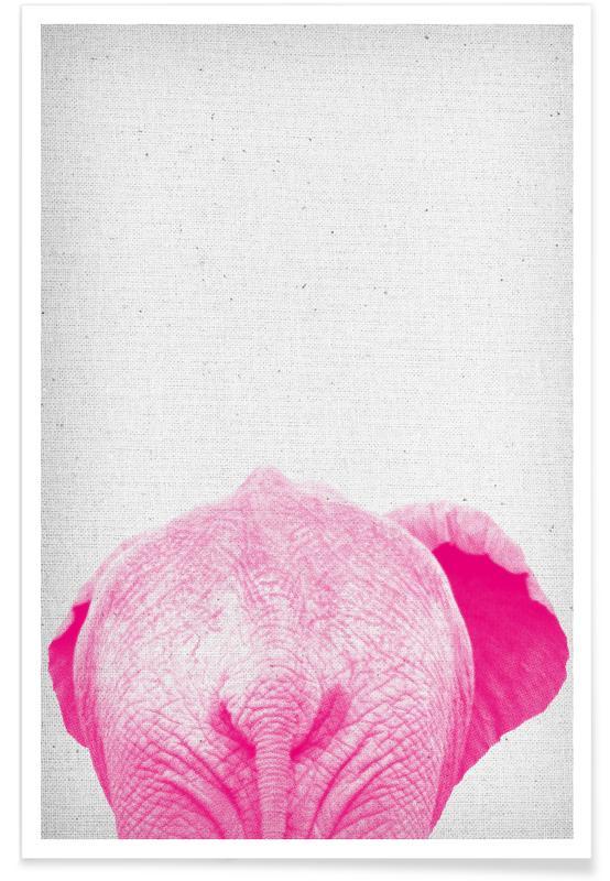 Éléphants, Art pour enfants, Elephant 01 affiche