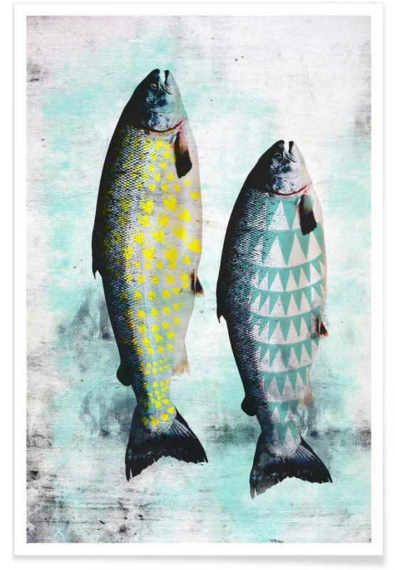 Fische, Forellen -Poster