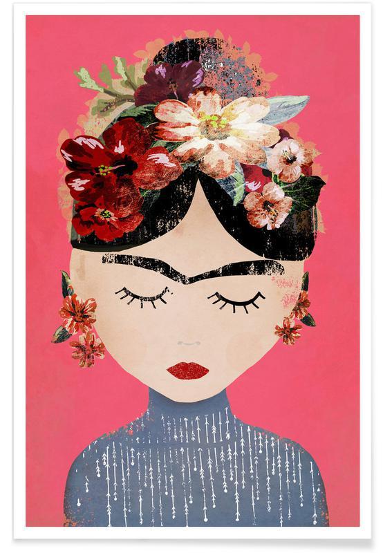 Frida Kahlo, Frida Pink Poster