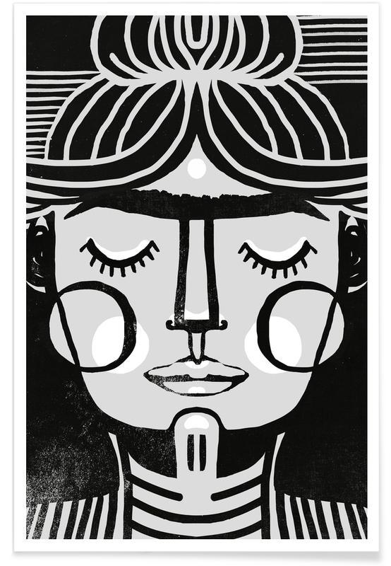 Black & White, Frida Kahlo, Dreaming Frida Poster