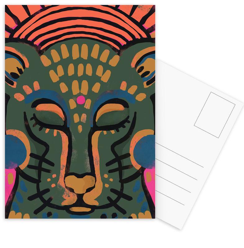 Kinderzimmer & Kunst für Kinder, Tiger, Tiger -Postkartenset