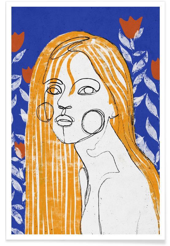 Portraits, The Tulip Girl affiche