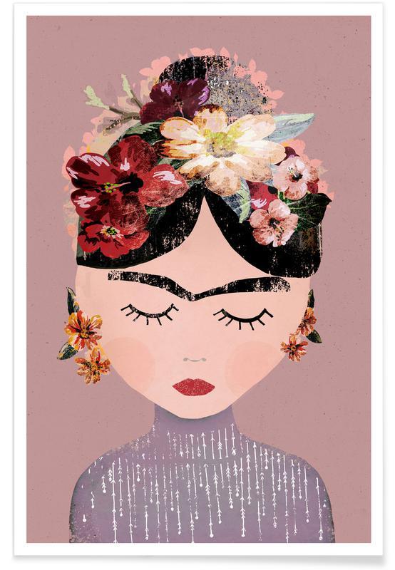 Frida Kahlo, Frida Pastell Poster