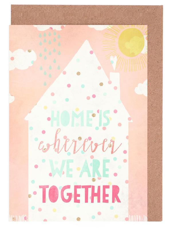 Crémaillères, Art pour enfants, Home Is Big cartes de vœux