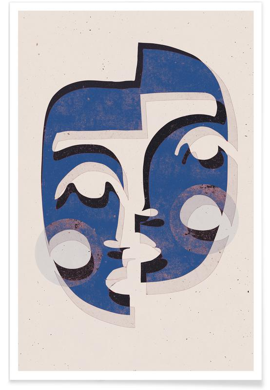 Portraits, The Mask Blue Poster