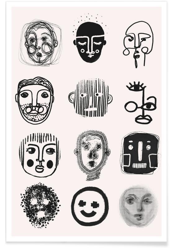 Portraits, Twelve Poster