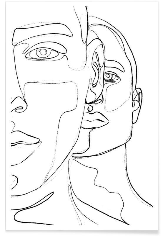 Portretten, Men poster