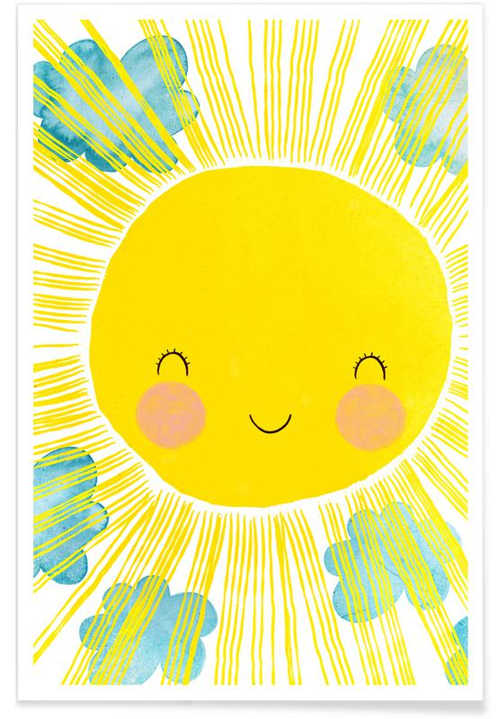 Sun Nursery Illustration Poster