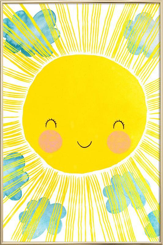 Matahari Poster i aluminiumram