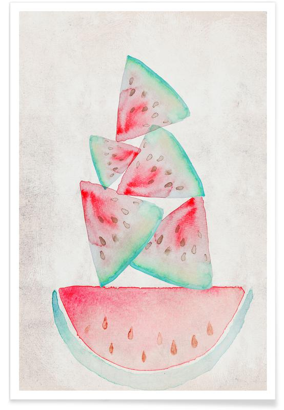 Watermelons, Melonen Poster