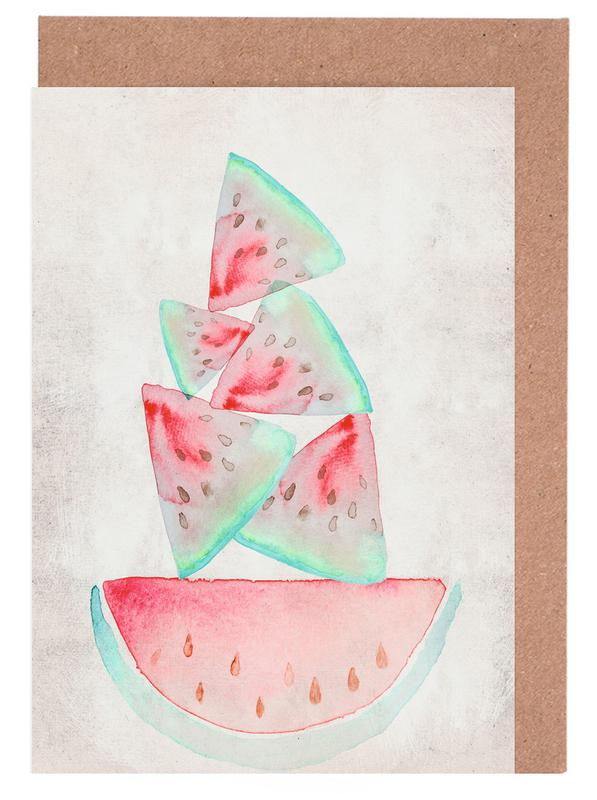 Melonen -Grußkarten-Set